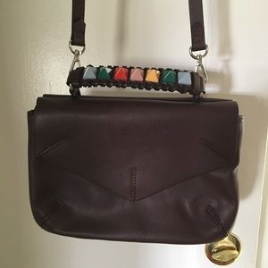 Studded Zara Purse Maroon w/rainbow Crossbody